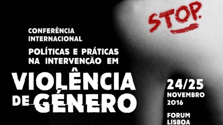 Cartaz da conferência Violência de Género